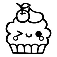 unicorn cupcakes coloring pages kawaii cupcake wink kawaii drawings cute coloring unicorn cupcakes pages coloring