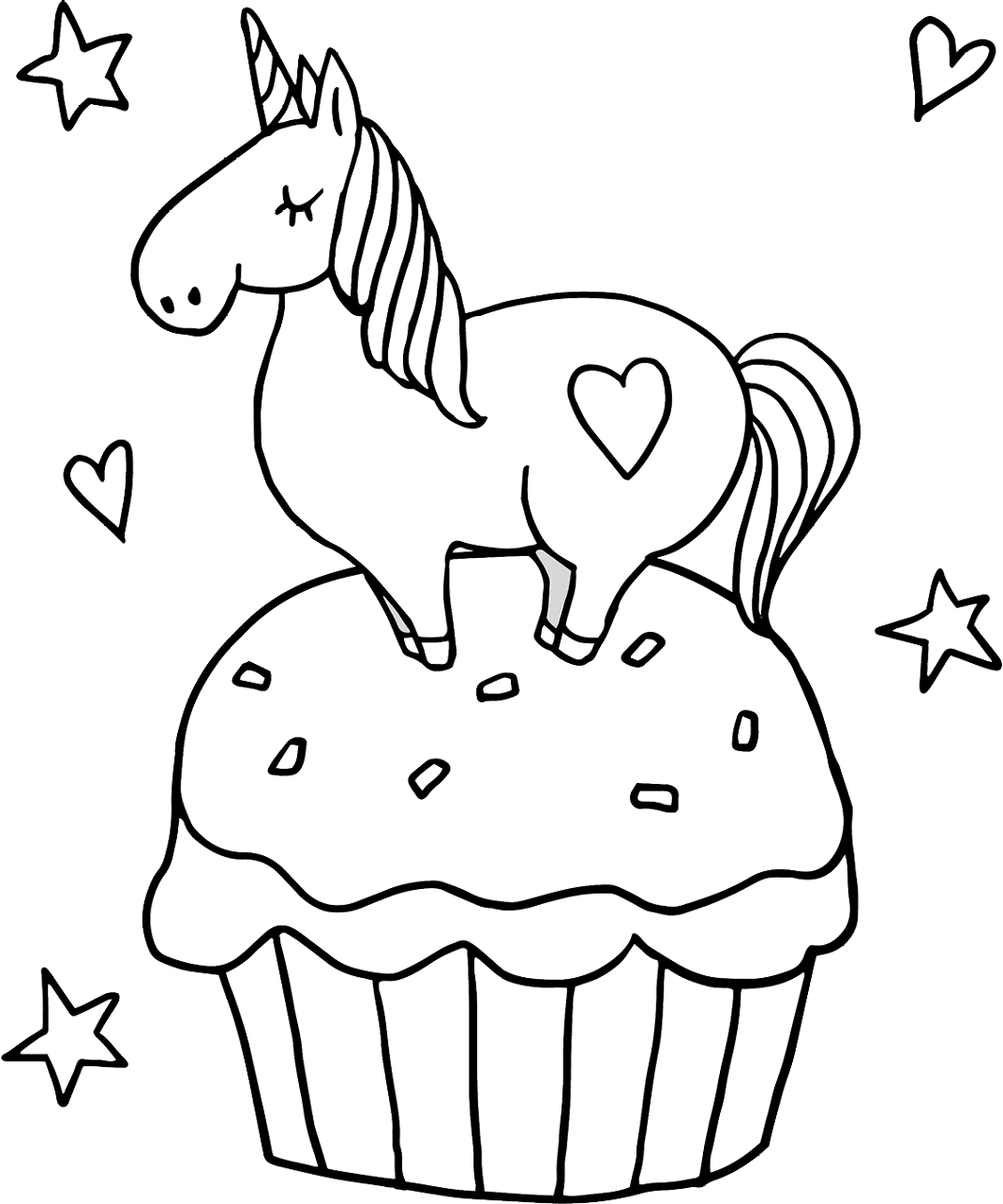 unicorn cupcakes coloring pages little unicorn on cupcake coloring page free printable coloring cupcakes pages unicorn
