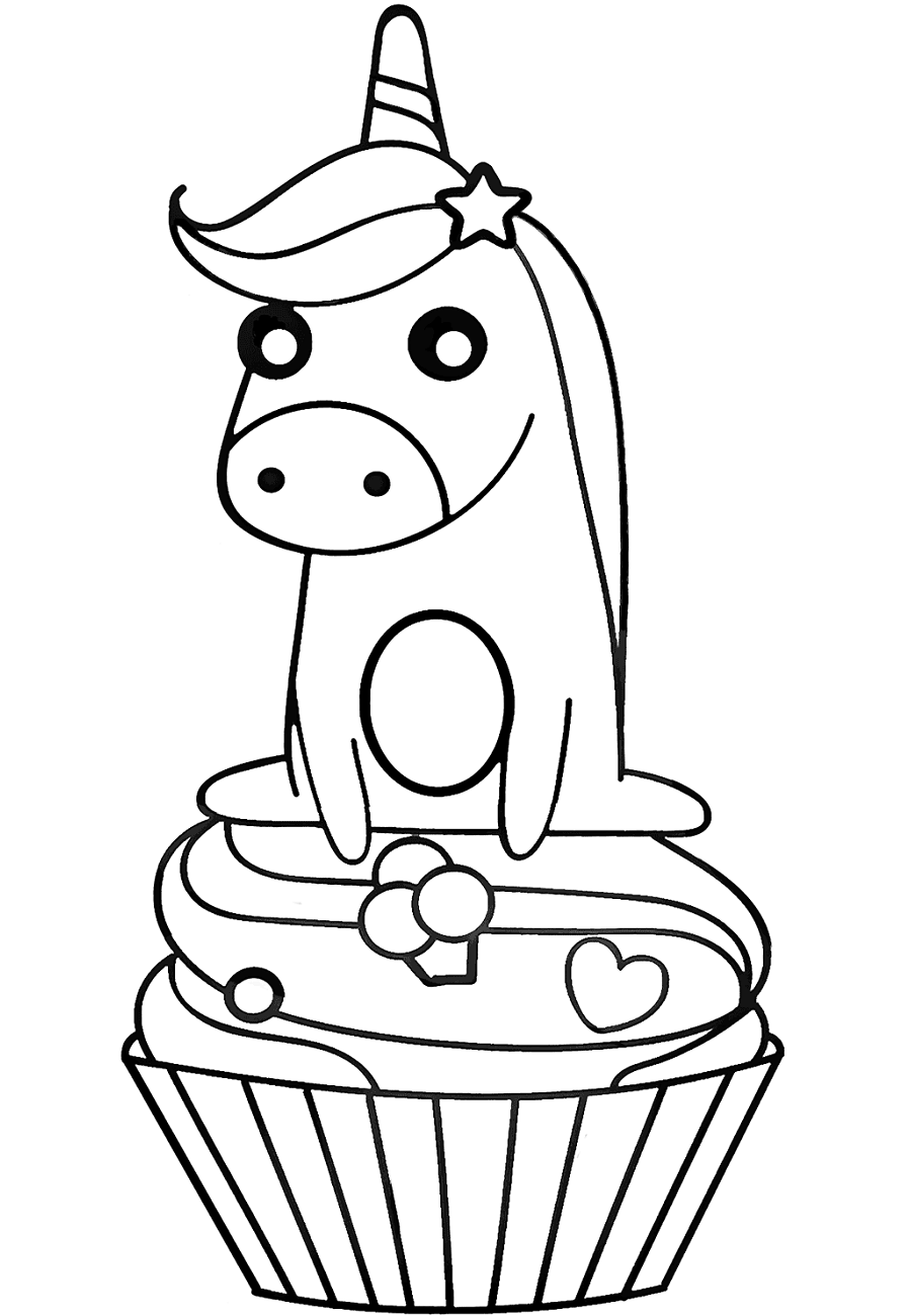 unicorn cupcakes coloring pages printable unicorn drawing mythical coloring book pictures pages cupcakes unicorn coloring