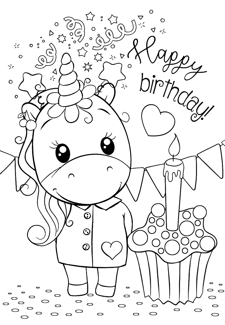 unicorn cupcakes coloring pages unicorn happy birthday coloring pages for you unicorn pages cupcakes coloring