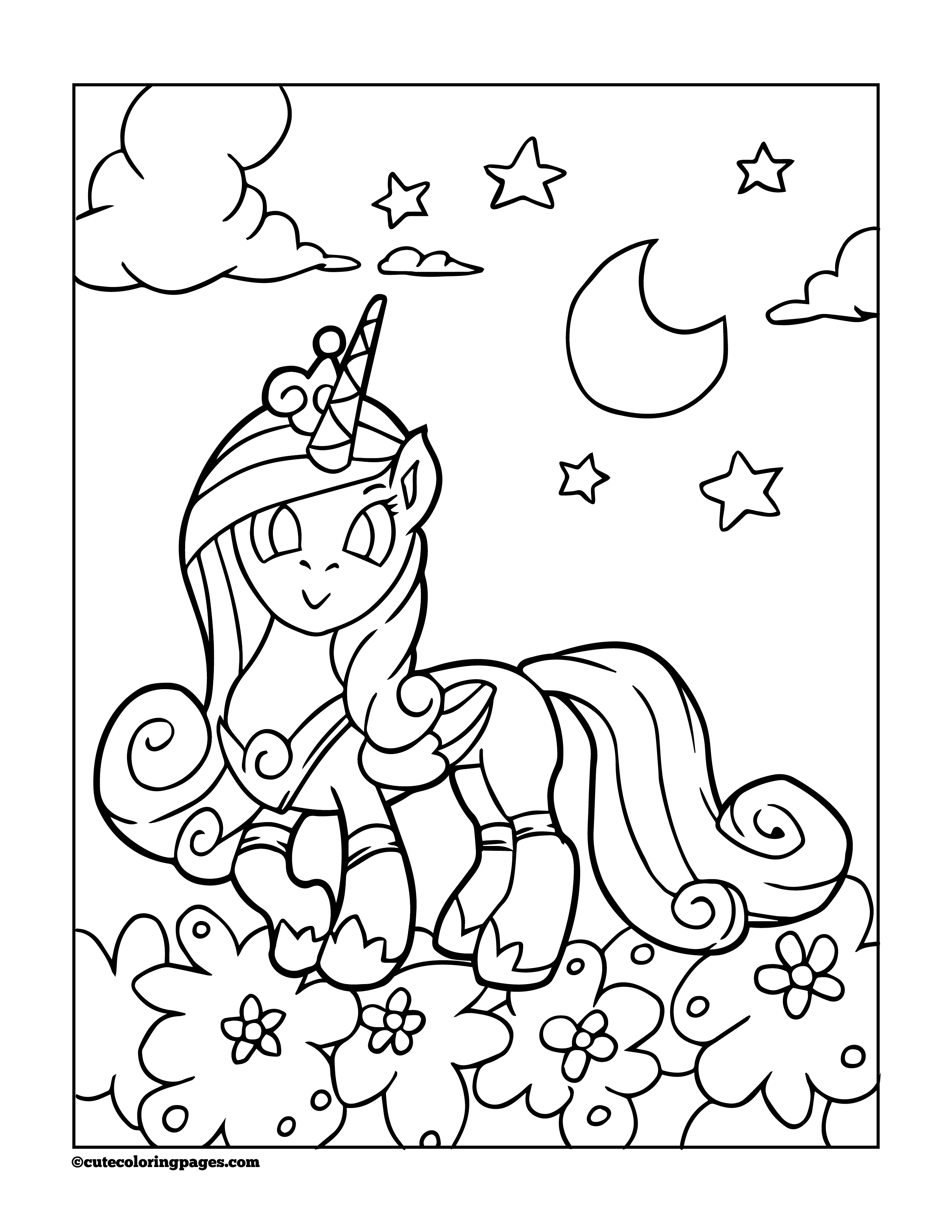 unicorn pictures for coloring free printable unicorn coloring pages for kids unicorn coloring for pictures 1 1