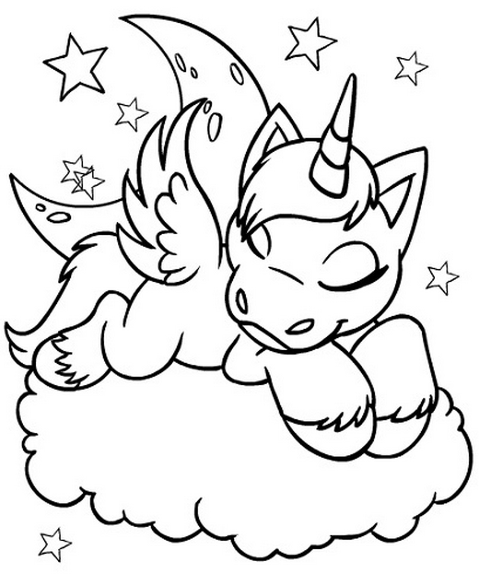 unicorn to color a magical unicorn a coloring page taianomainen color to unicorn