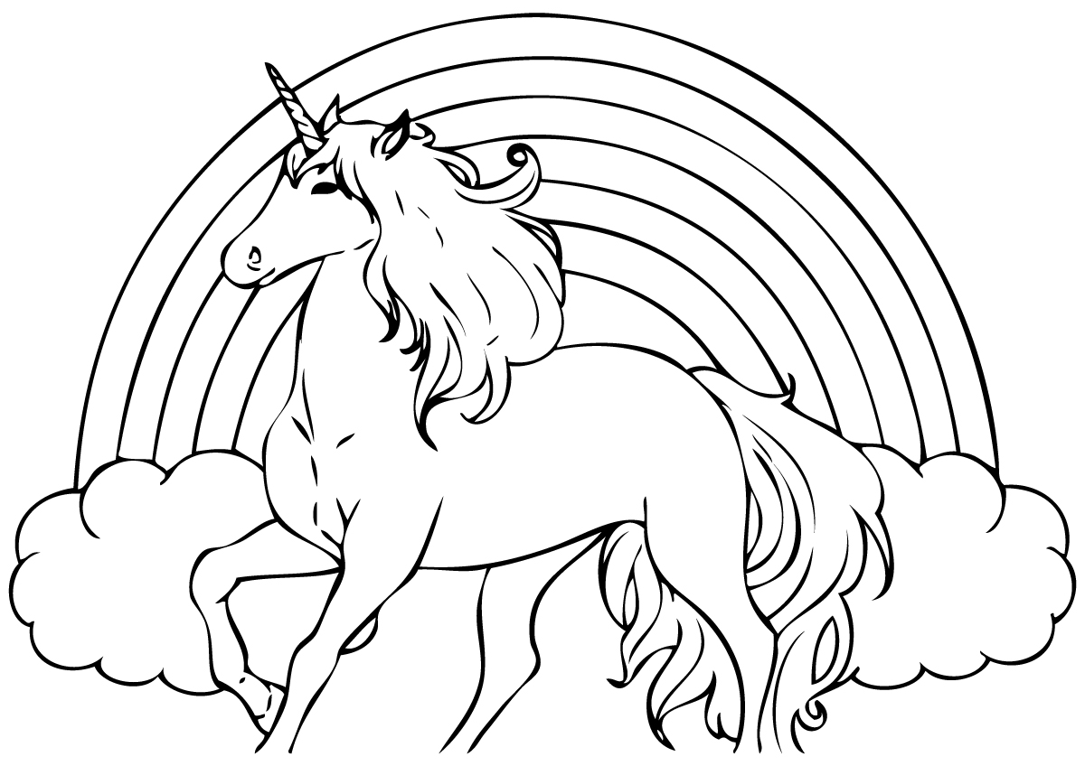 unicorn to color free printable rainbow unicorn coloring pages print unicorn color to