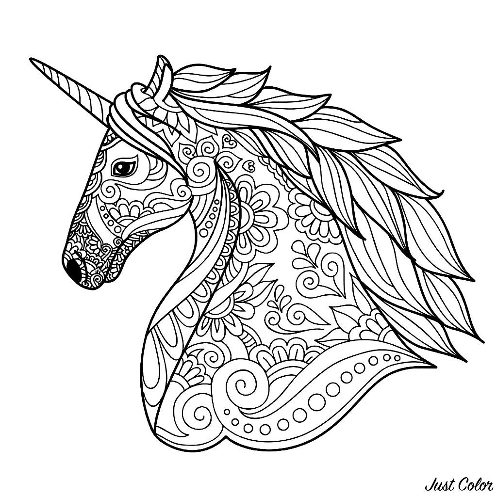 unicorn to color print download unicorn coloring pages for children color to unicorn
