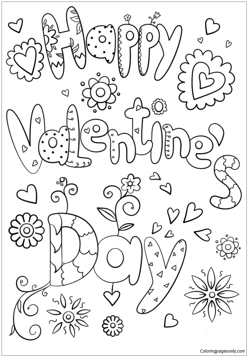 valentine day color pages happy valentine s day coloring page free coloring pages day color pages valentine