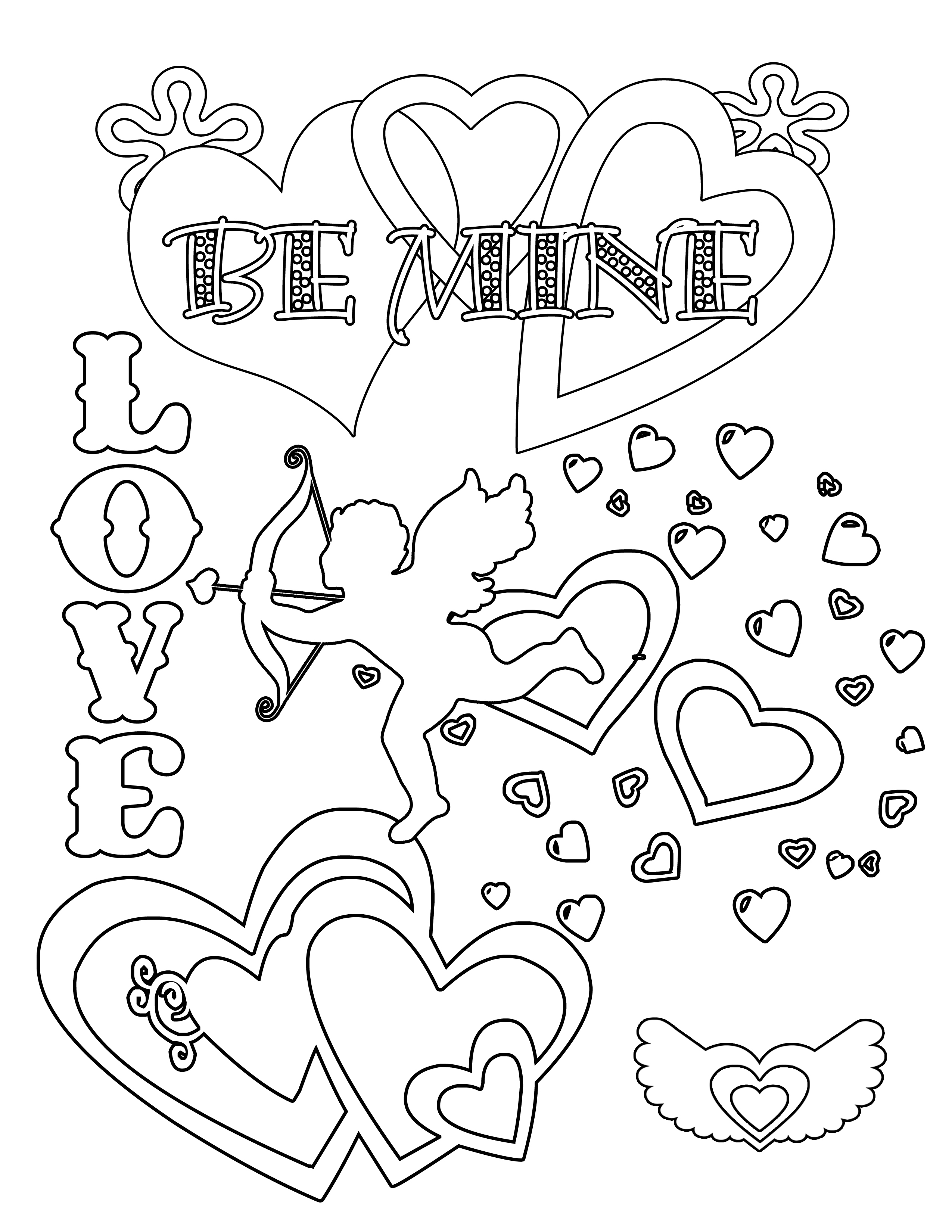 valentines coloring pages printable valentine39s coloring pages crazy little projects coloring valentines printable pages