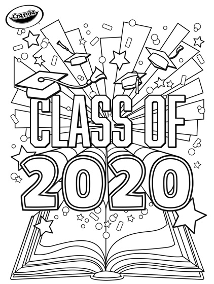 vbs coloring pages 2020 class of 2020 graduation crayolacom coloring 2020 vbs pages