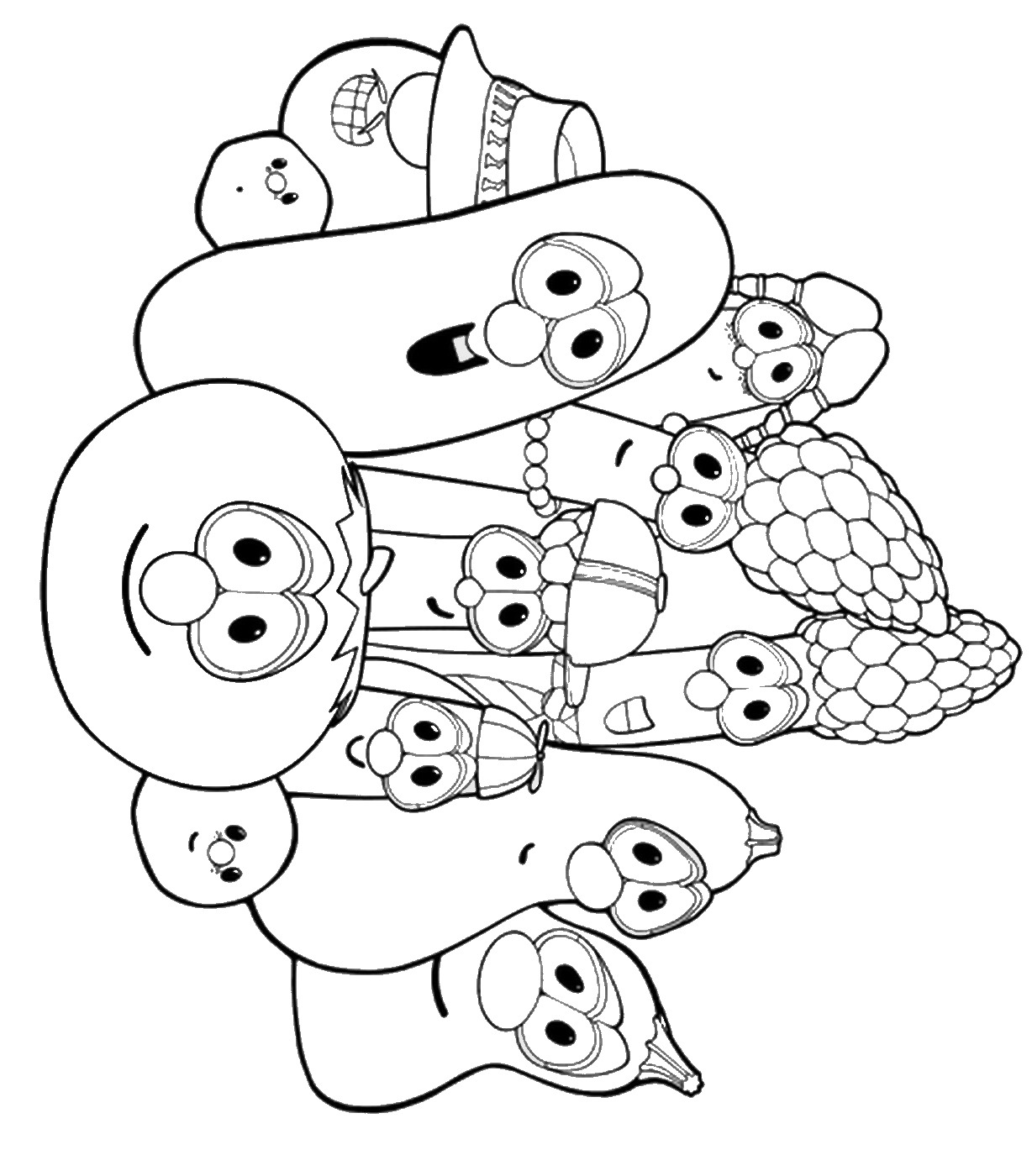 veggietales coloring sheets free printable veggie tales coloring pages for kids veggietales sheets coloring