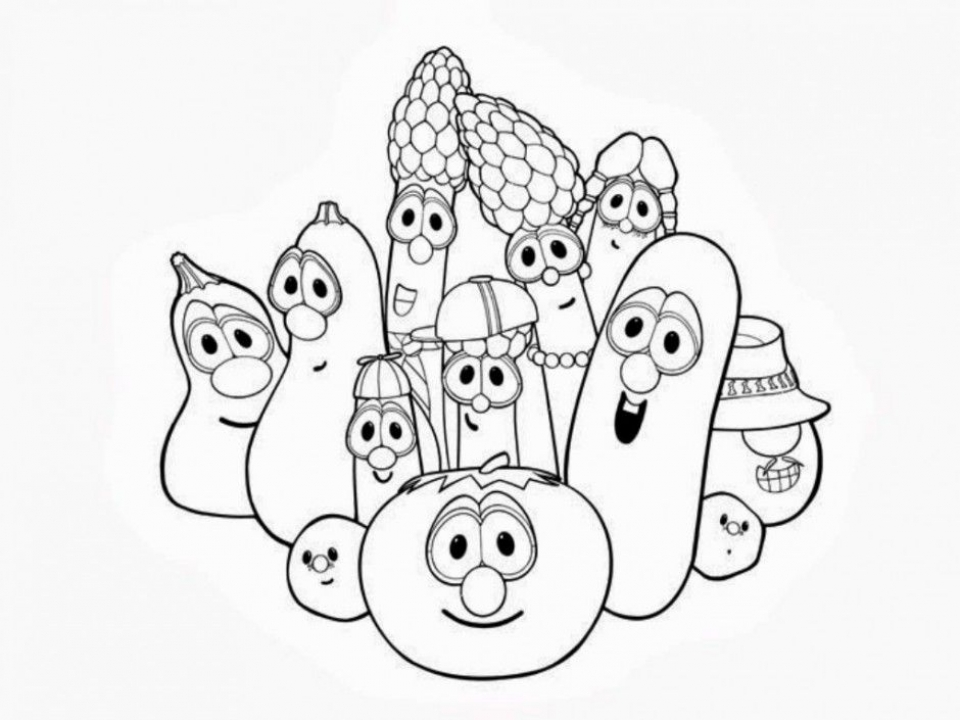 veggietales coloring sheets free printable veggie tales coloring pages for kids veggietales sheets coloring 1 1