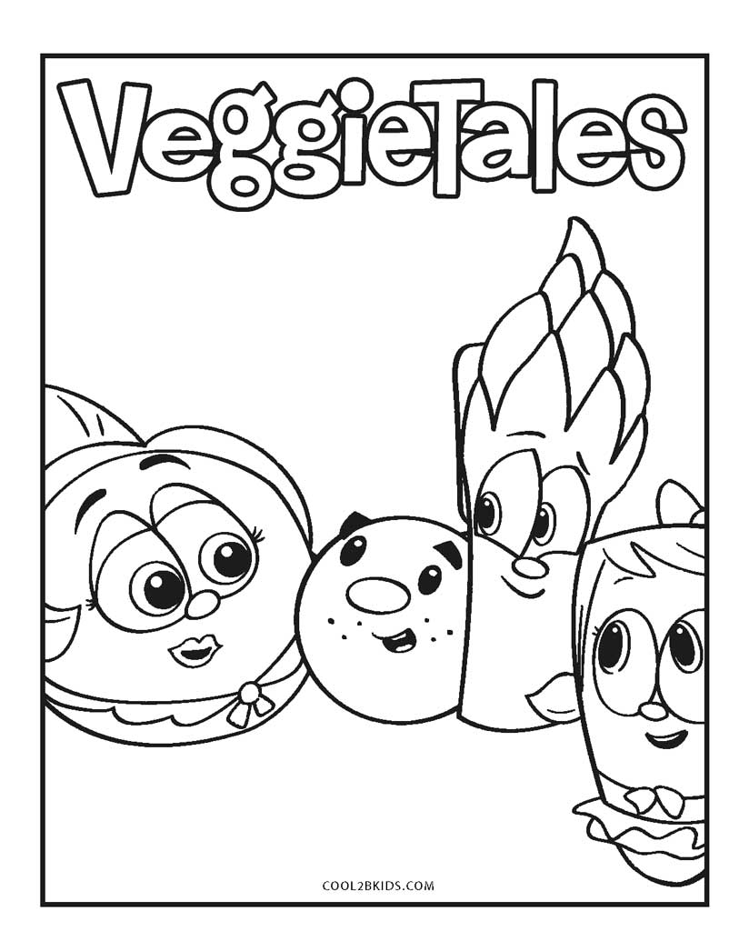 veggietales coloring sheets free printable veggie tales coloring pages for kids veggietales sheets coloring 1 2