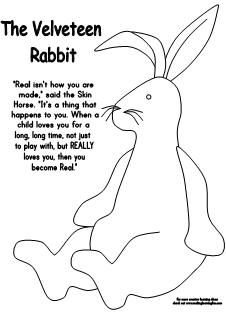 velveteen rabbit coloring pages learning printables for children velveteen pages coloring rabbit