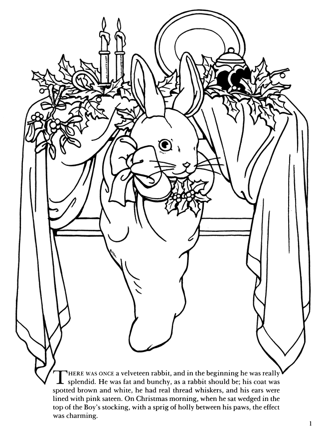 velveteen rabbit coloring pages velveteen rabbit becoming real coloring page redwork velveteen rabbit pages coloring