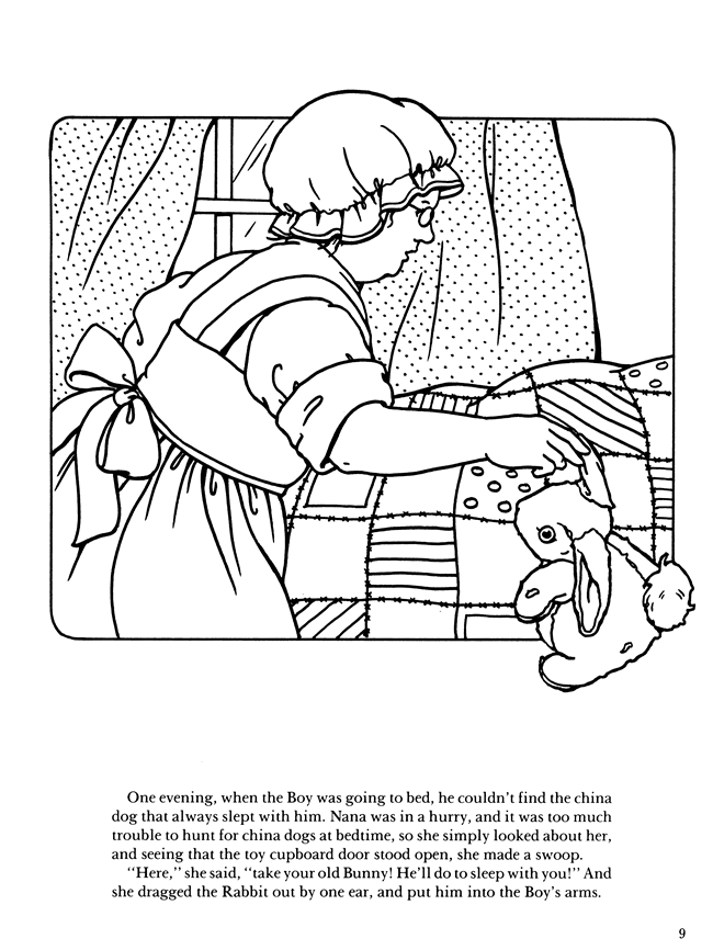 velveteen rabbit coloring pages welcome to dover publications rabbit pages coloring velveteen