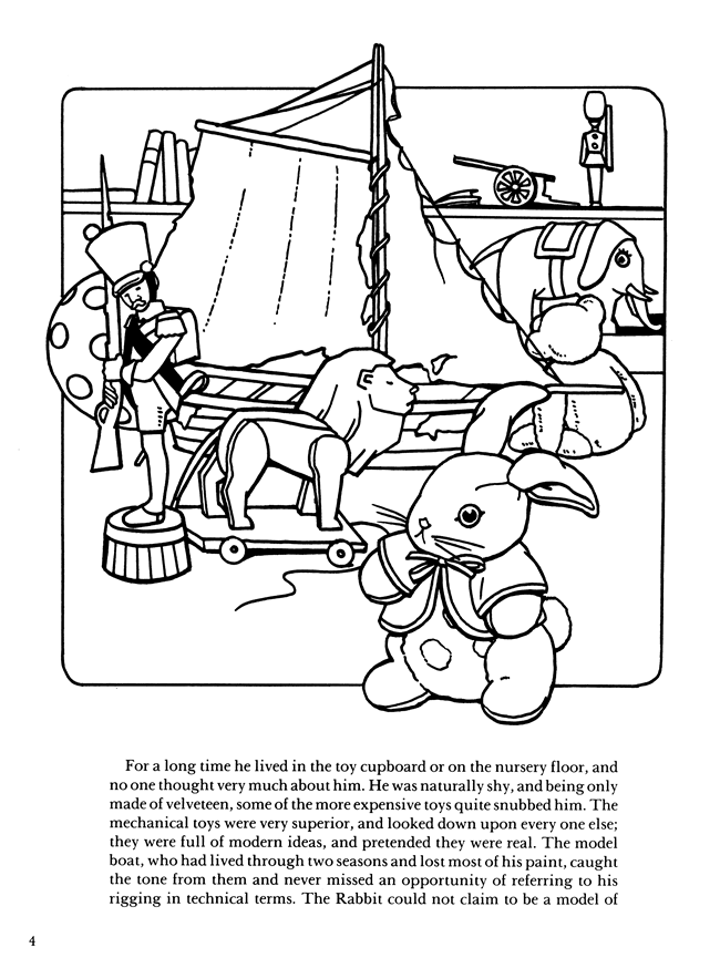 velveteen rabbit coloring pages welcome to dover publications rabbit pages coloring velveteen 1 1