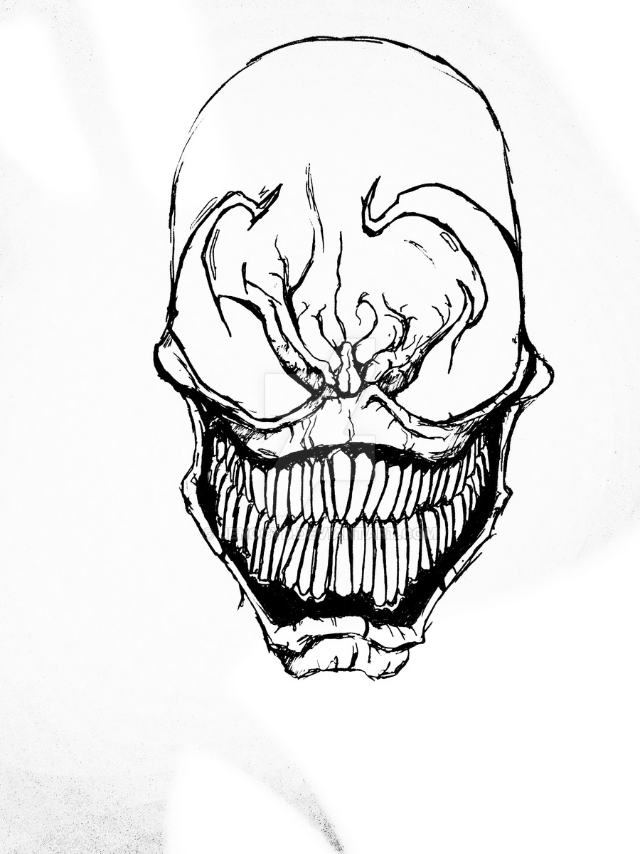 venom face coloring pages venom drawing step by step venom drawing venom coloring face pages