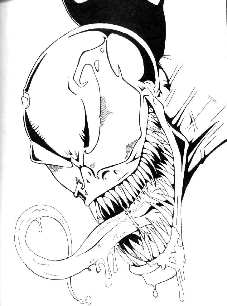venom face coloring pages venom drooling by petex on deviantart pages face coloring venom