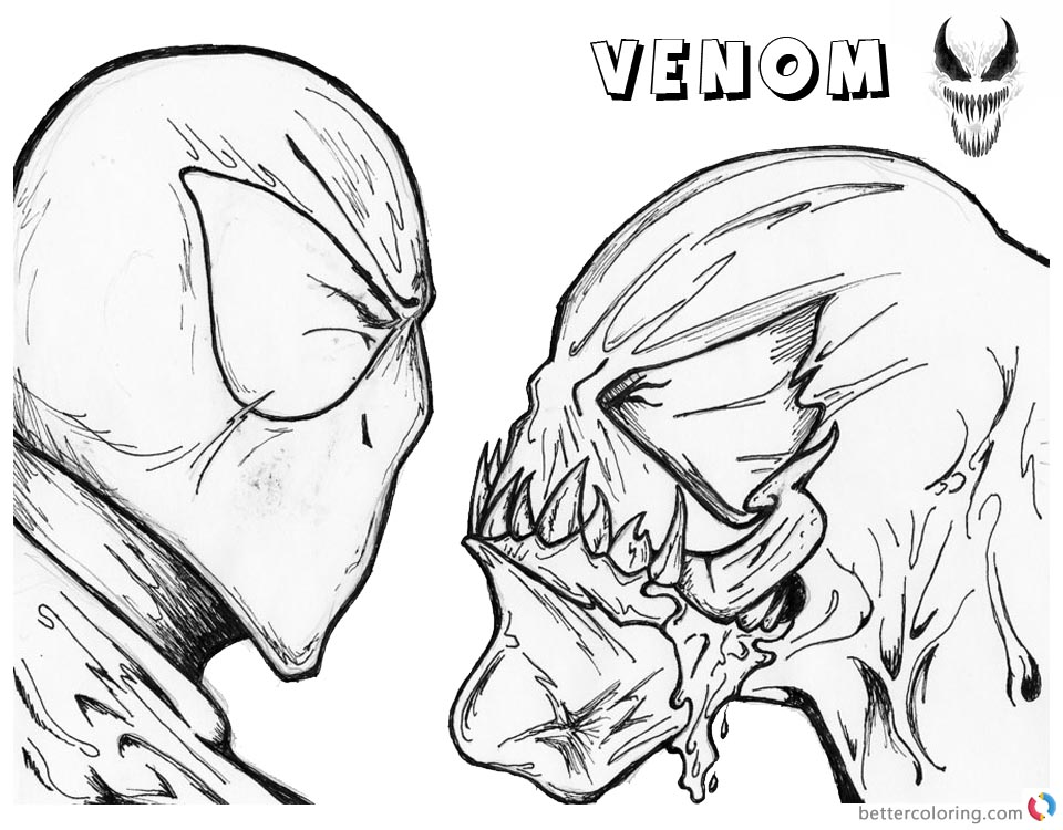 venom face coloring pages venom face drawing at getdrawings free download pages face coloring venom