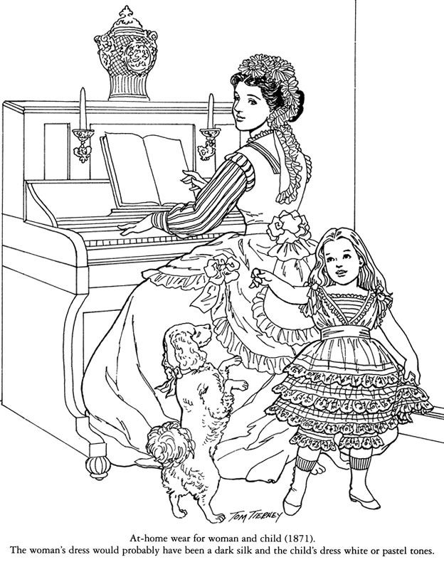 victorian colouring sheets children in costume history 1840 1850 romantic fashions colouring sheets victorian