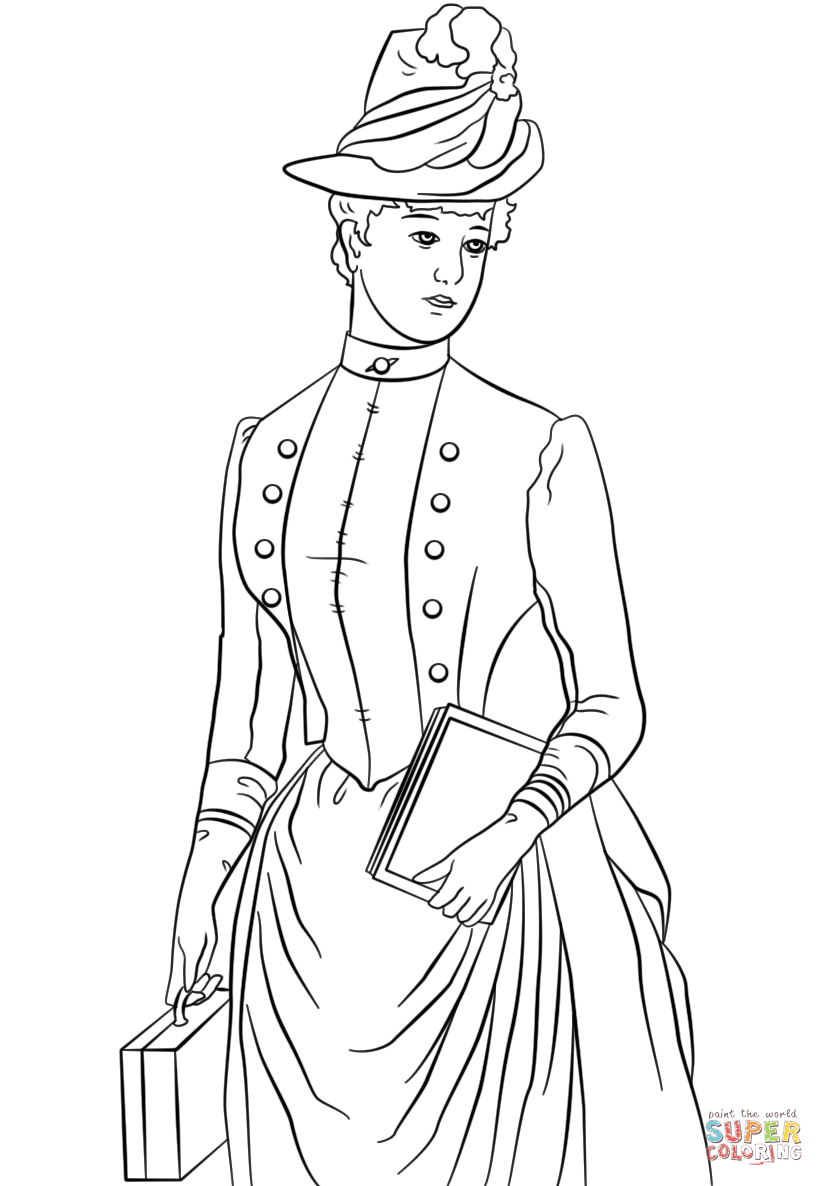 victorian colouring sheets victorian lady in the big hat coloring page free sheets victorian colouring