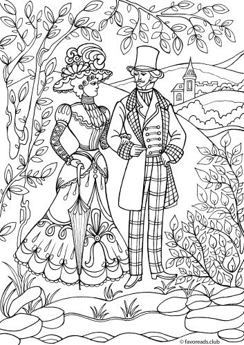 victorian colouring sheets victorian style dressed lady with umbrella line art victorian colouring sheets