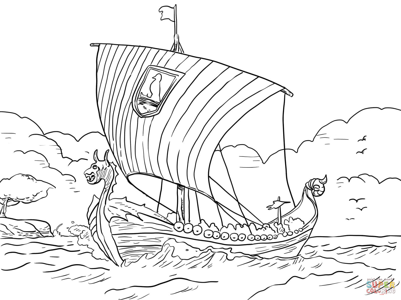 viking coloring page unflinching navy ship coloring page free ships navy viking page coloring