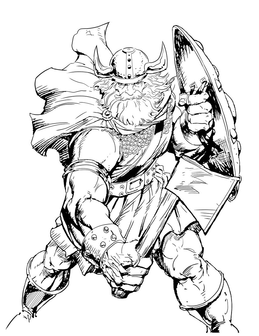 viking colouring pages viking warrior by boat with axe raised coloring page pages colouring viking