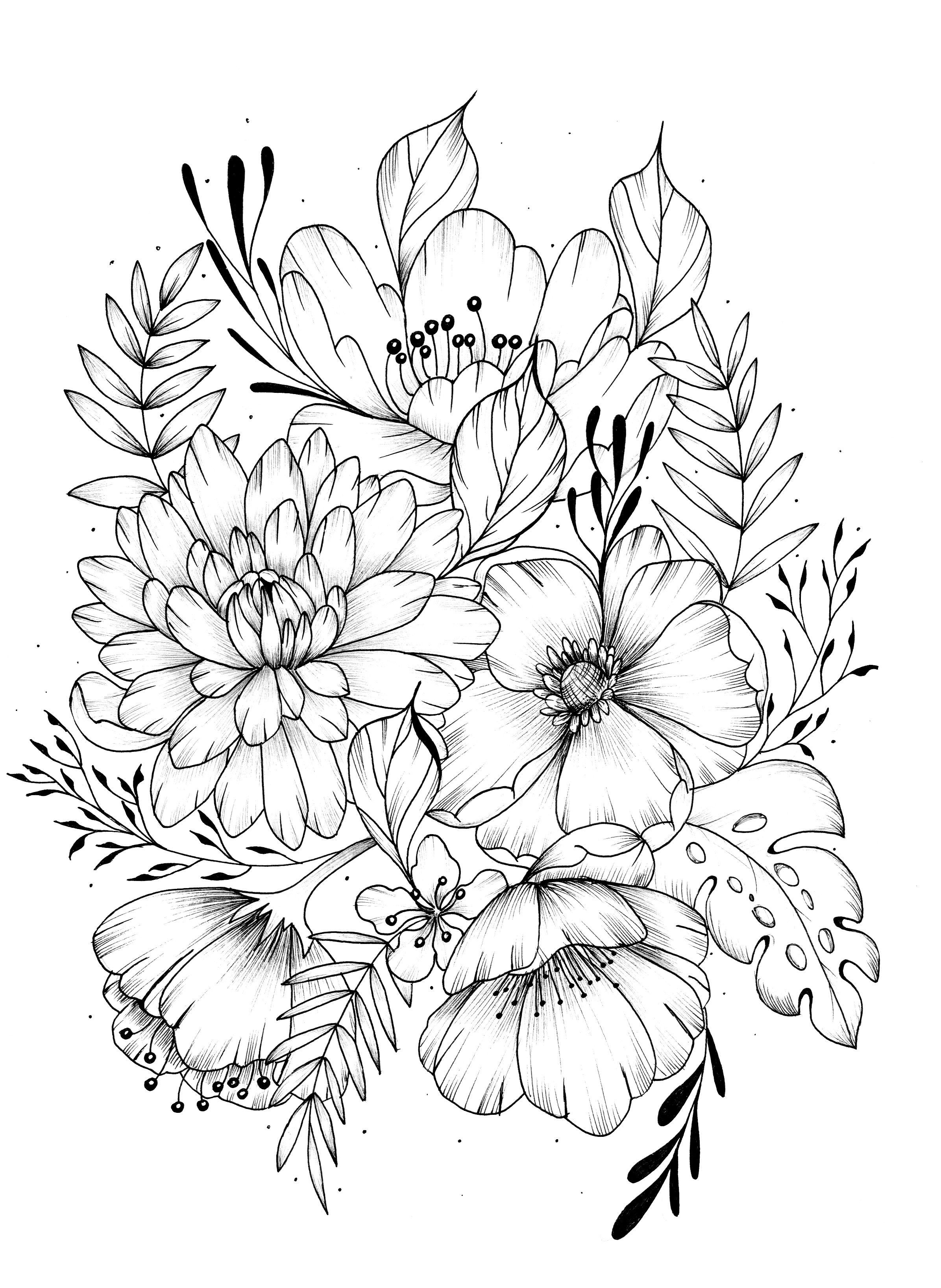 vintage flower coloring pages digital two for tuesday vintage flowers flower sketches coloring flower vintage pages