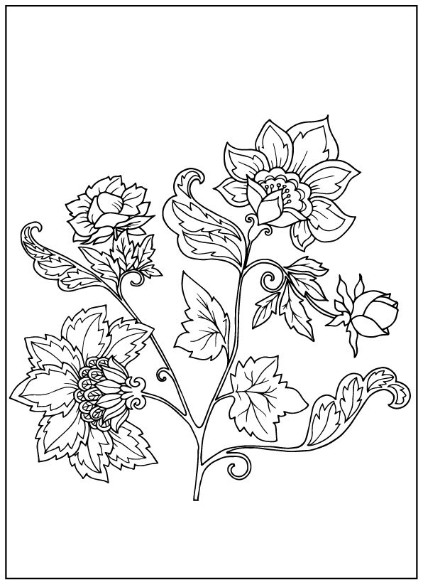 vintage flower coloring pages lily flowers coloring page for adult adult colouring vintage coloring pages flower