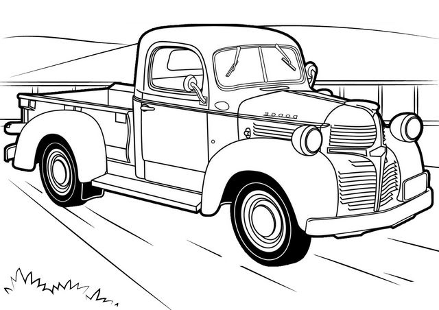 vintage truck coloring page all new chevy truck coloring pages for boys classic truck page coloring vintage