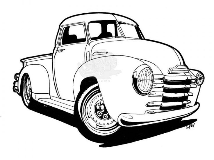 vintage truck coloring page chevy trucks drawings chevy trucks drawings chevy coloring truck vintage page