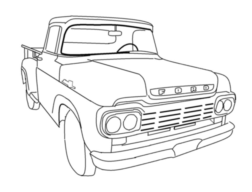 vintage truck coloring page classic truck coloring pages at getcoloringscom free truck vintage coloring page