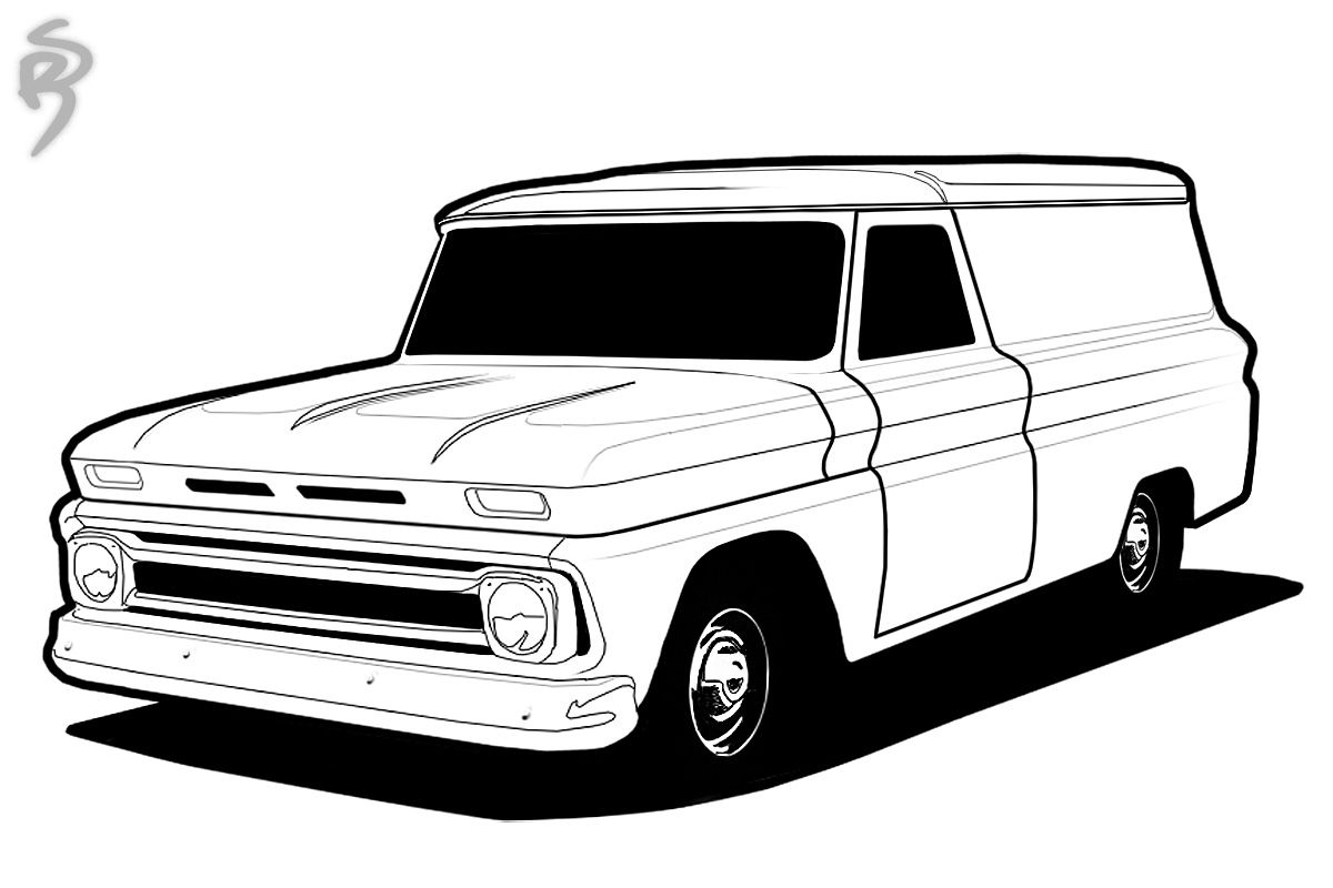 vintage truck coloring page classic truck coloring pages wwwgalleryhipcom the sketch truck vintage page coloring