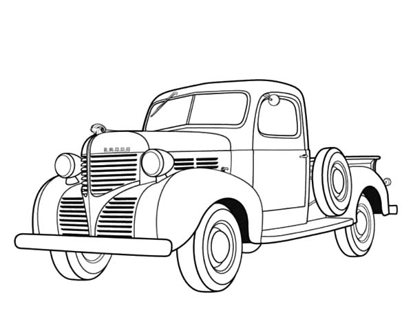 vintage truck coloring page dodge pickup 1939 antique car coloring pages best place vintage truck page coloring