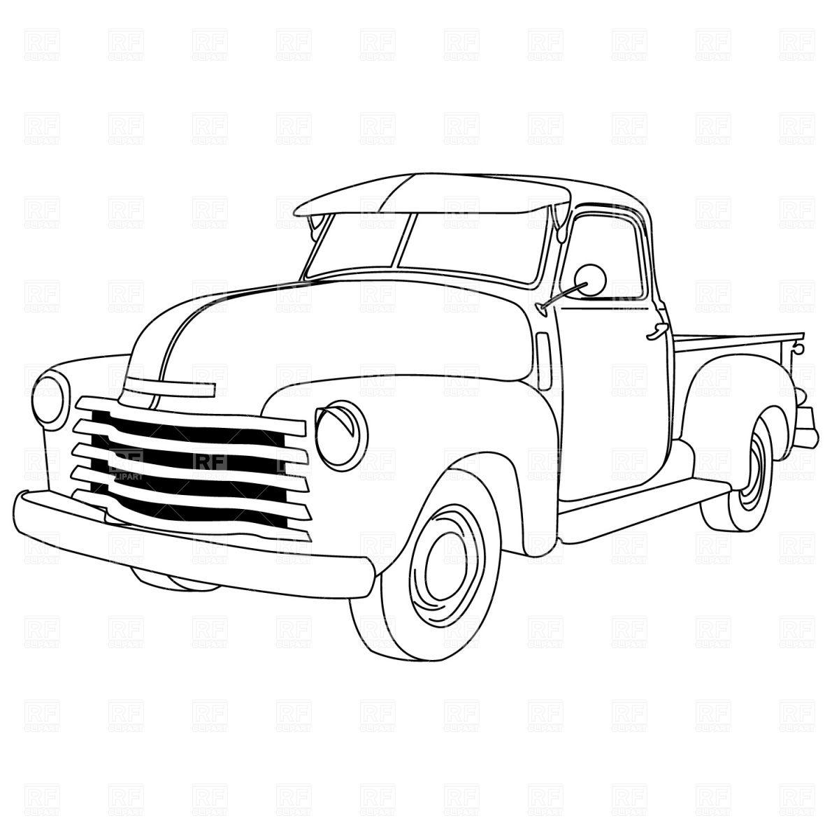 vintage truck coloring page instant download vintage pickup truck printable vintage page truck coloring