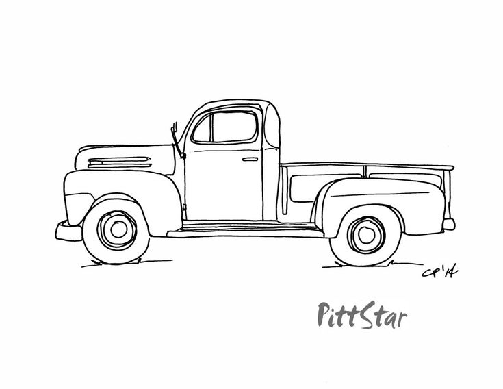 vintage truck coloring page old american pick up truck download royalty free vector page truck vintage coloring