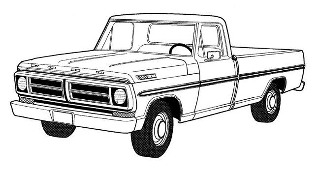 vintage truck coloring page pickup truck coloring pages mobil truck coloring vintage page