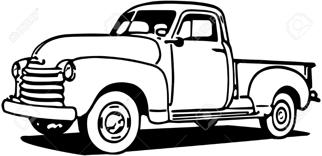 vintage truck coloring page pin by lauren brown on 1st birthday ideas chevy pickups truck vintage page coloring