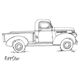 vintage truck coloring page popular items for vintage truck on etsy truck coloring truck coloring page vintage