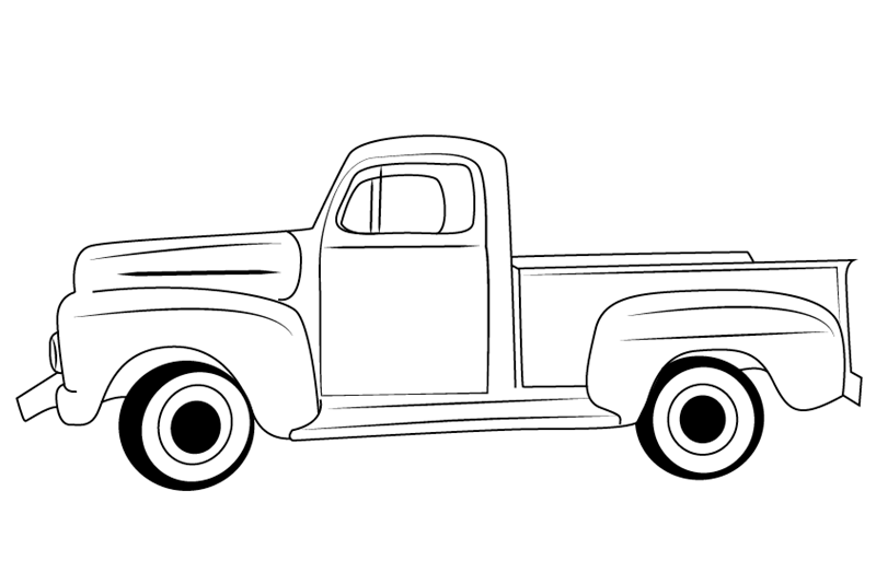 vintage truck coloring page top 7 pick up truck coloring sheet classic ford trucks vintage coloring page truck