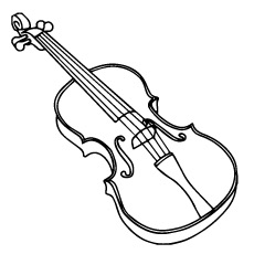 violin colouring 10 lovely violin coloring pages for your toddler colouring violin