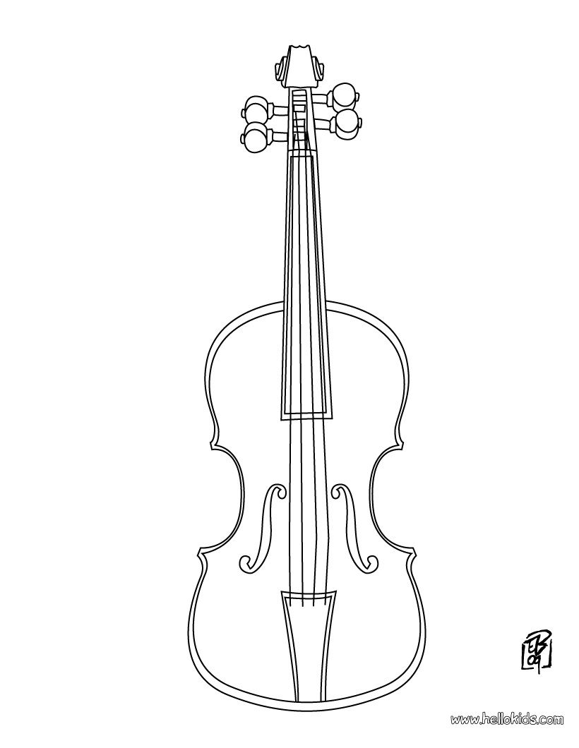 violin colouring violin coloring page except add lines so they can fill violin colouring