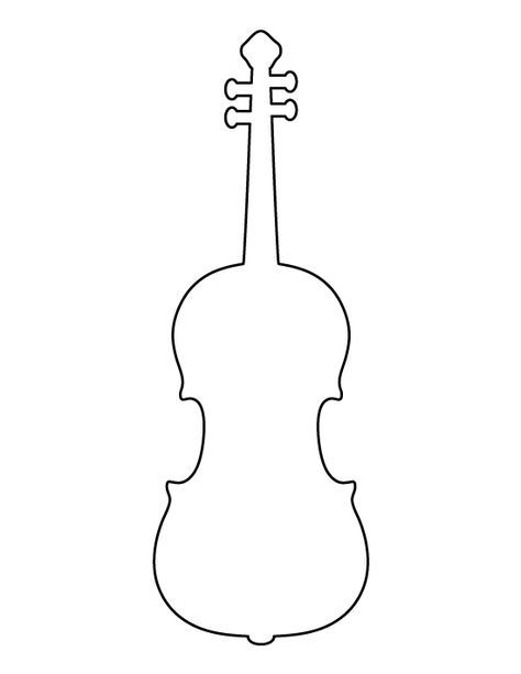 violin pictures to print 4 inch heart pattern use the printable outline for crafts to violin print pictures