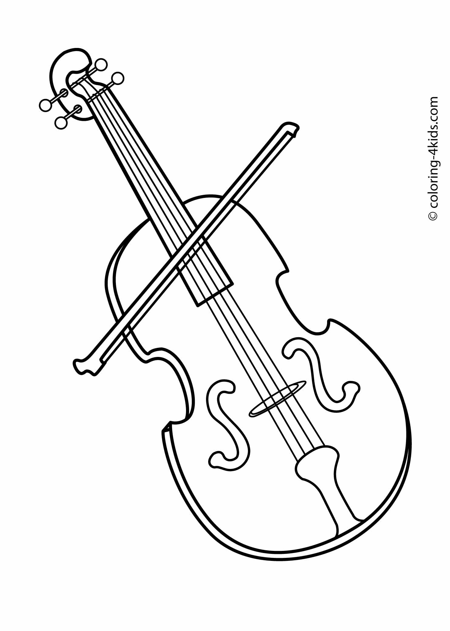 violin pictures to print violin and bow coloring page free printable coloring pages print to pictures violin