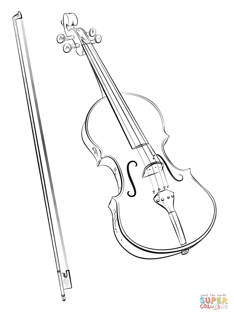 violin pictures to print violin coloring page musical instruments to print pictures violin