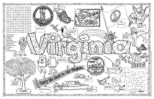 virginia state symbols coloring pages classroom pack of 30 coloring pages all about virginia coloring pages virginia symbols state