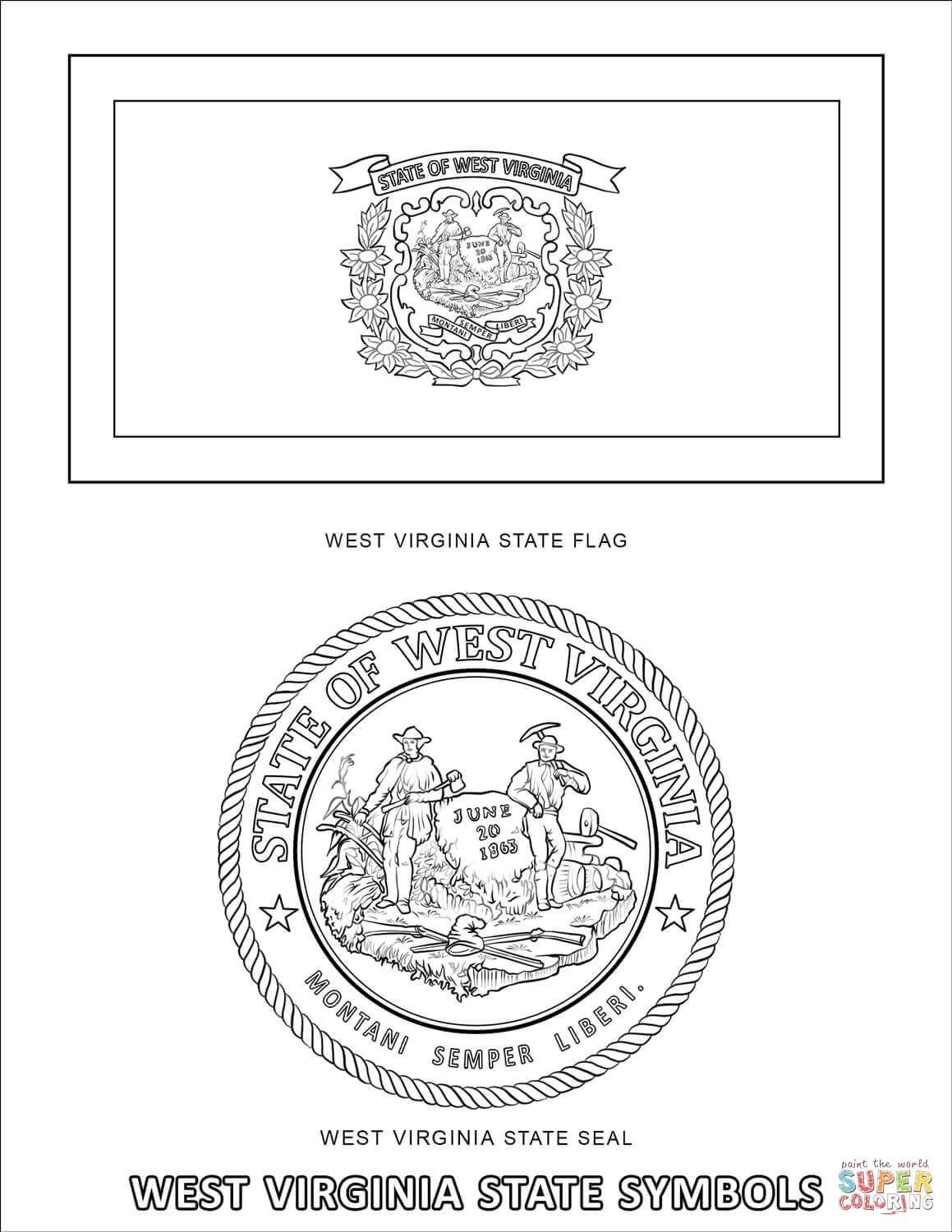 virginia state symbols coloring pages images of west virginia state flowers coloring pages state pages virginia coloring symbols