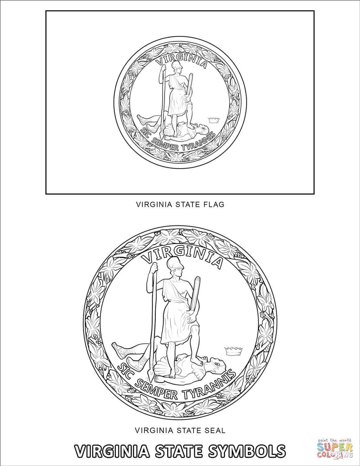 virginia state symbols coloring pages virginia coloring page crayolacom state pages virginia coloring symbols