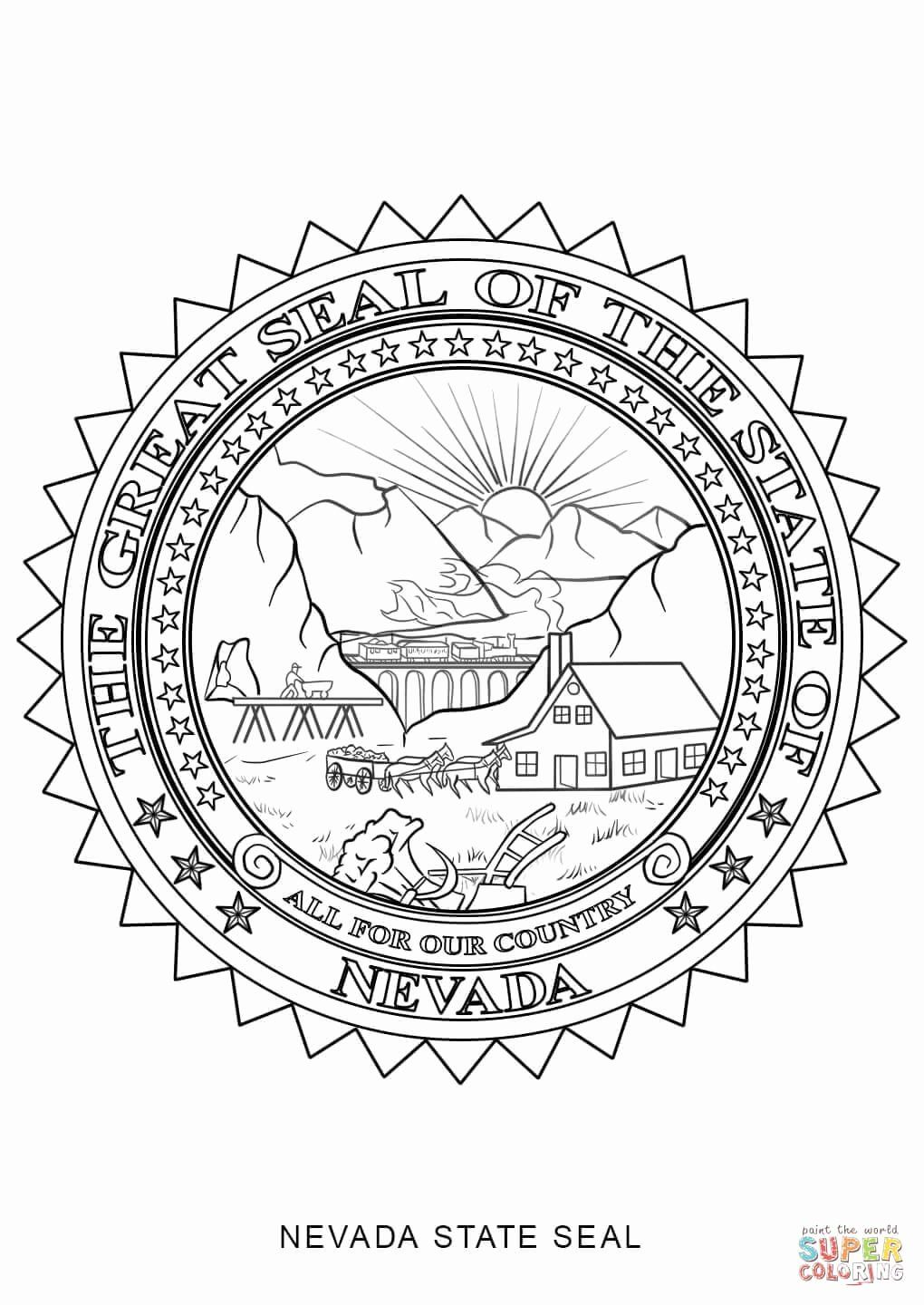 virginia state symbols coloring pages virginia state flag coloring page luxury nevada state seal pages state symbols virginia coloring