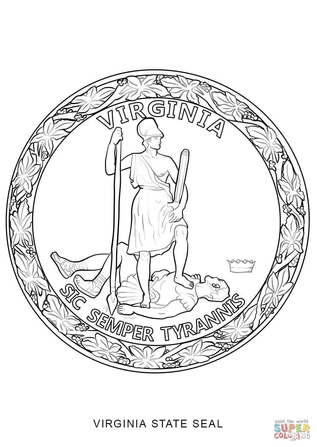 virginia state symbols coloring pages virginia state symbols coloring page free printable pages state virginia coloring symbols
