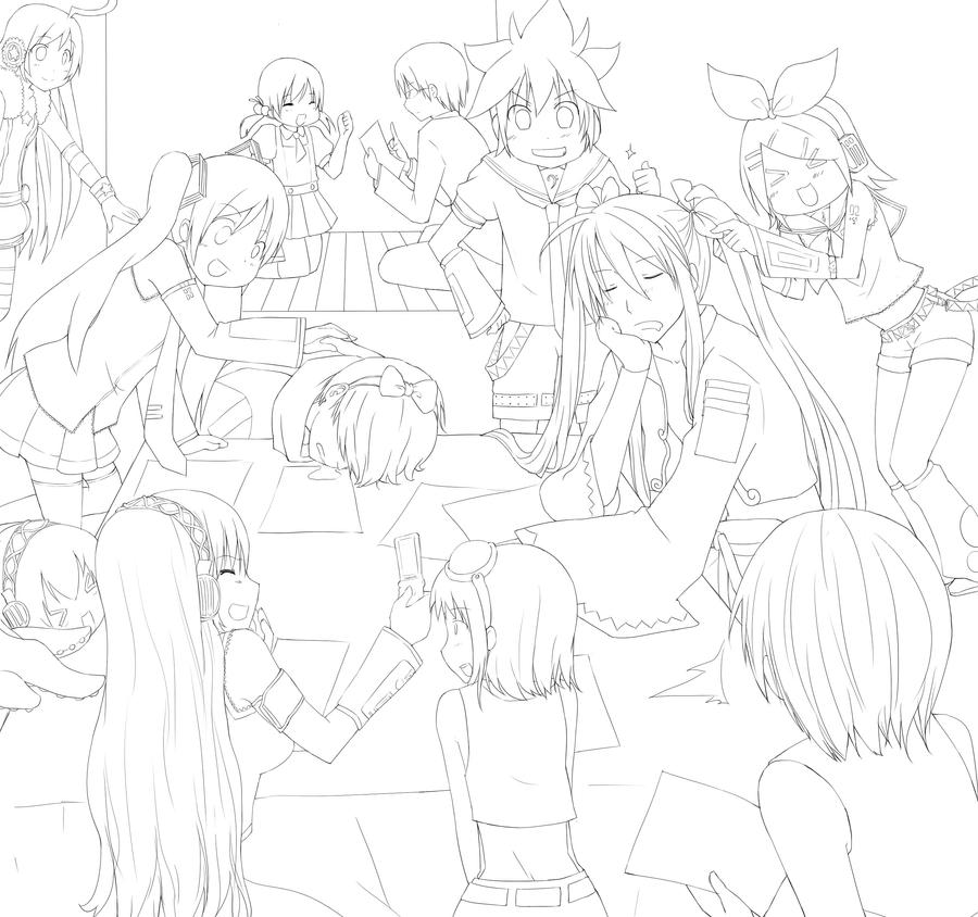 vocaloid coloring pages vocaloid lineart by cyoko on deviantart vocaloid coloring pages